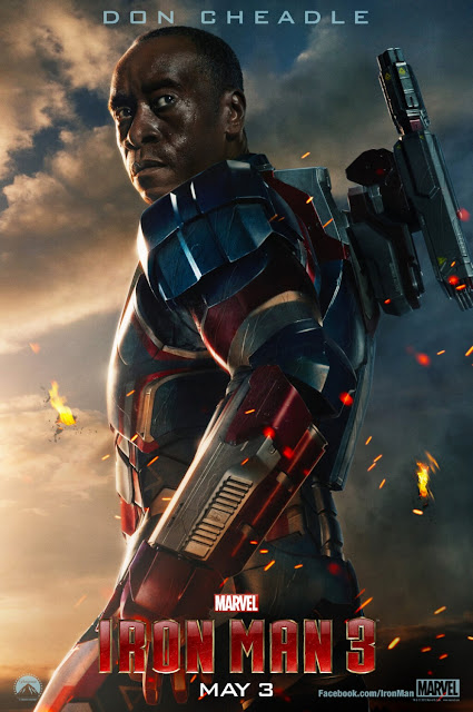Iron Man 3 One Sheet Character Movie Posters - Don Cheadle as James Rhodes (Iron Patriot/War Machine)