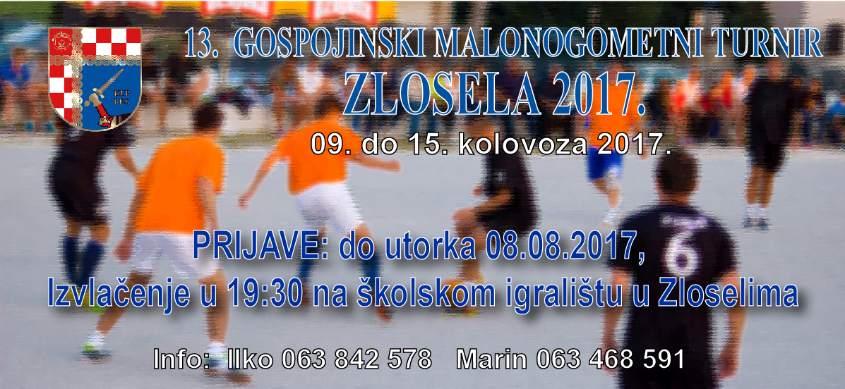 "13. GOSPOJINSKI TURNIR ""ZLOSELA 2017."