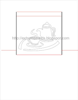 pop up card coffee pot
