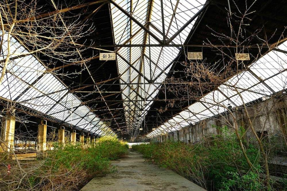 Abandoned transport station in Duisburg, Germany