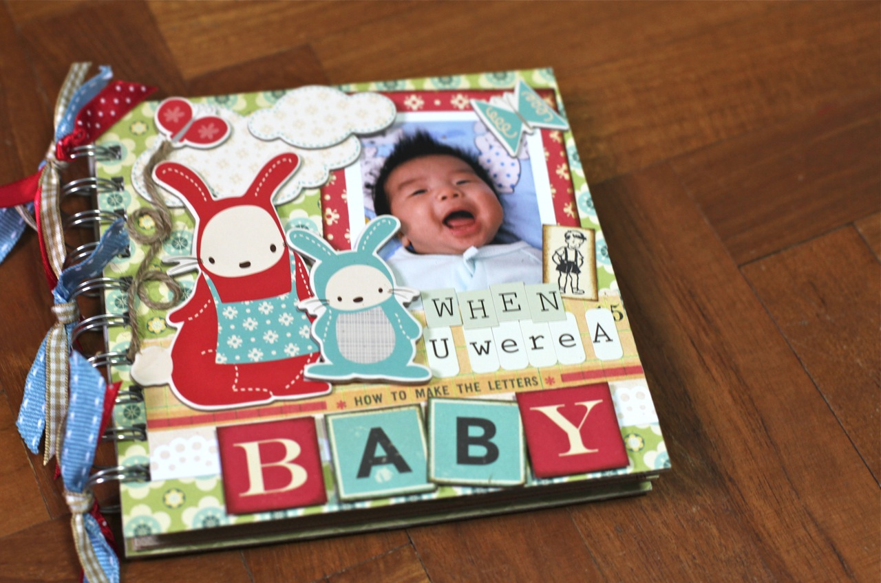 mum in the making monday made a baby book for my big boy