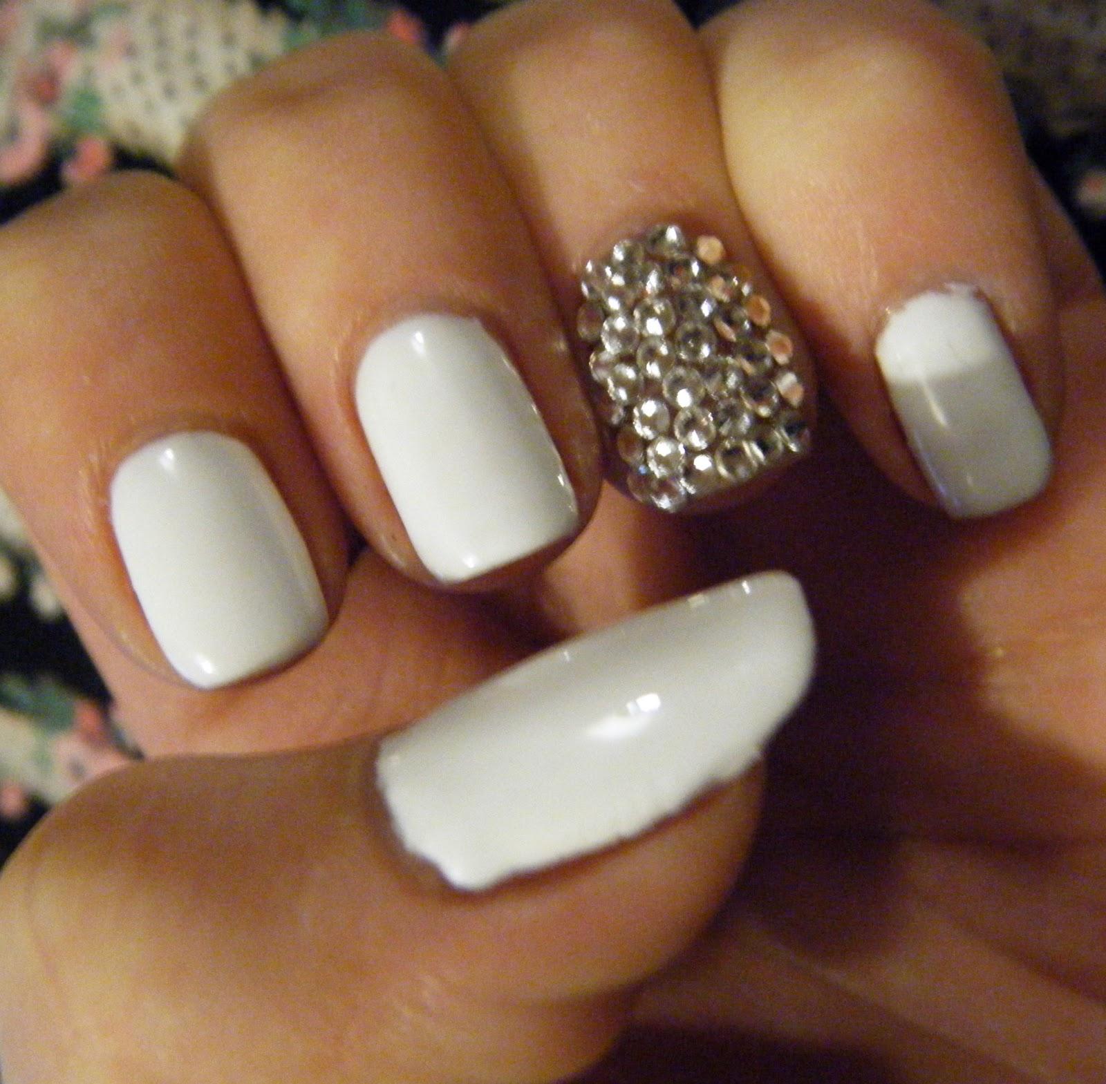 LuceeLoves: Gel Manicure encrusted with Swarvoski Crystals!