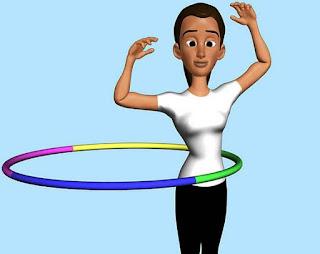 langkah ke ke sebelas bermain hula hoop