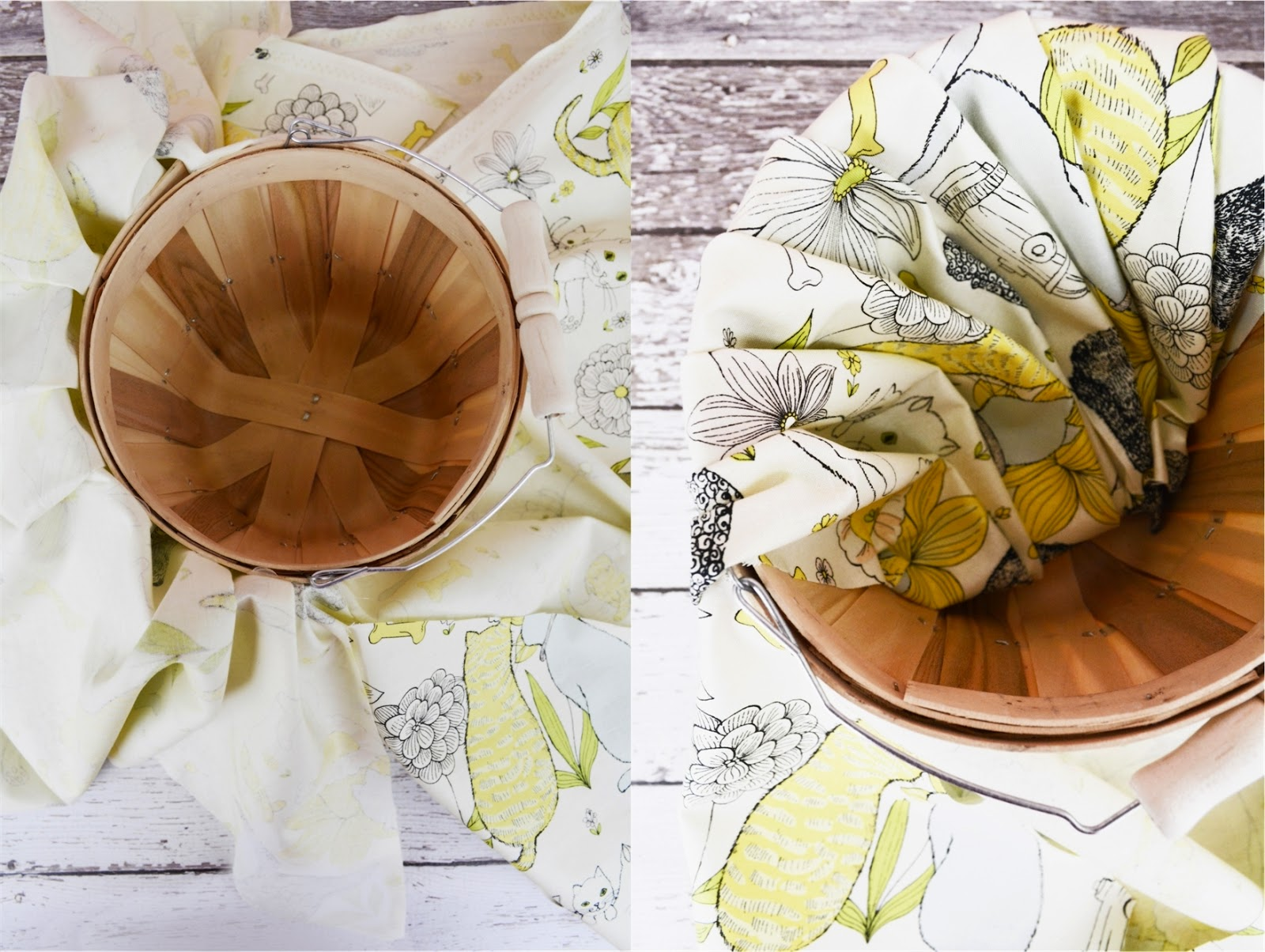 How To Make A Flower Girl Basket With Fabric : Curly girl kitchen wedding diy flower
