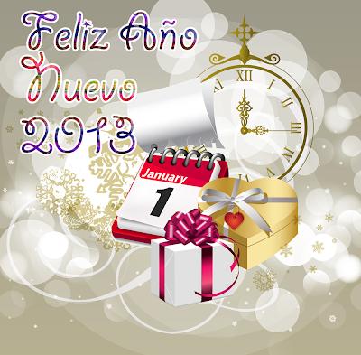 Ilustraciones gratis con mensaje Feliz Año Nuevo