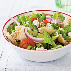 Pita Salad with Tomatoes, Cucumber, and Herbs