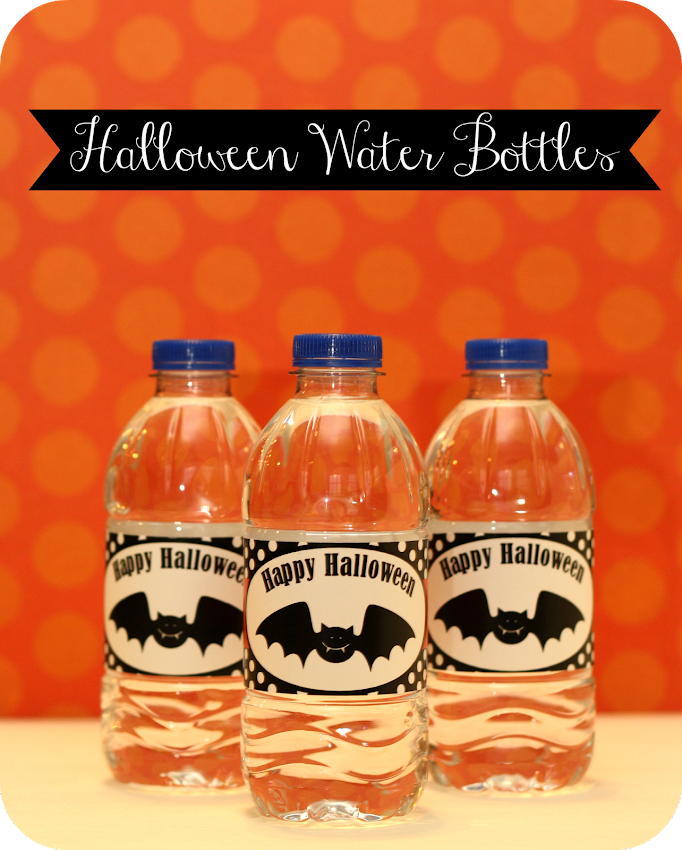 bat halloween mini water bottles