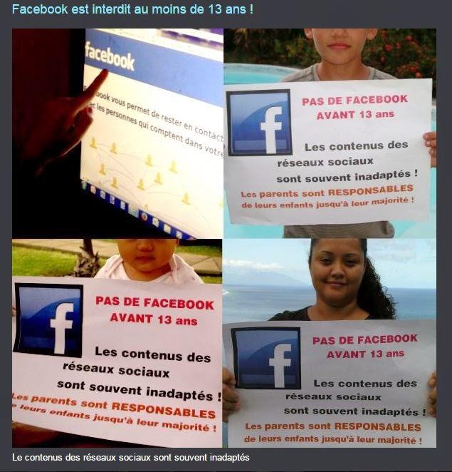 Facebook est interdit au moins de 13 ans