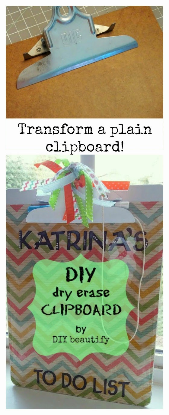 Transform a plain clipboard www.diybeautify.com