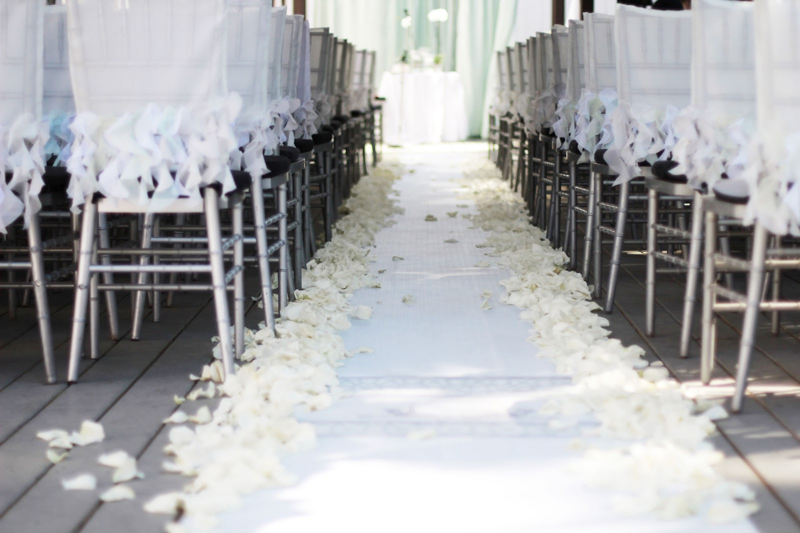 DIY Wedding Chair Covers