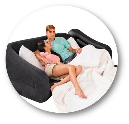 Inspiracje mieszkaniowe - dmuchane sofy i fotele