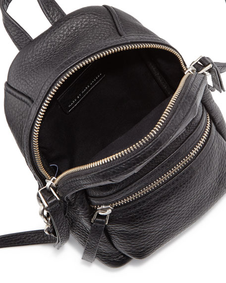 000a8b389273 This bag is the MARC by Marc Jacobs Domo Biker Cross Biker Backpack in the  color Black.