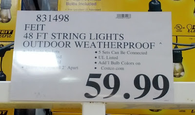 Deal for the Feit 48 ft Outdoor String Lights at Costco