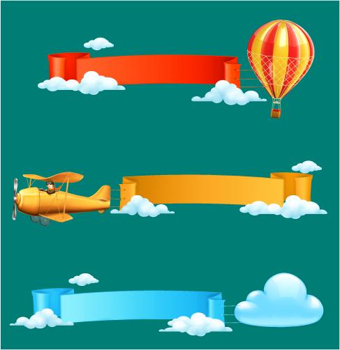 carteles aéreos en vector