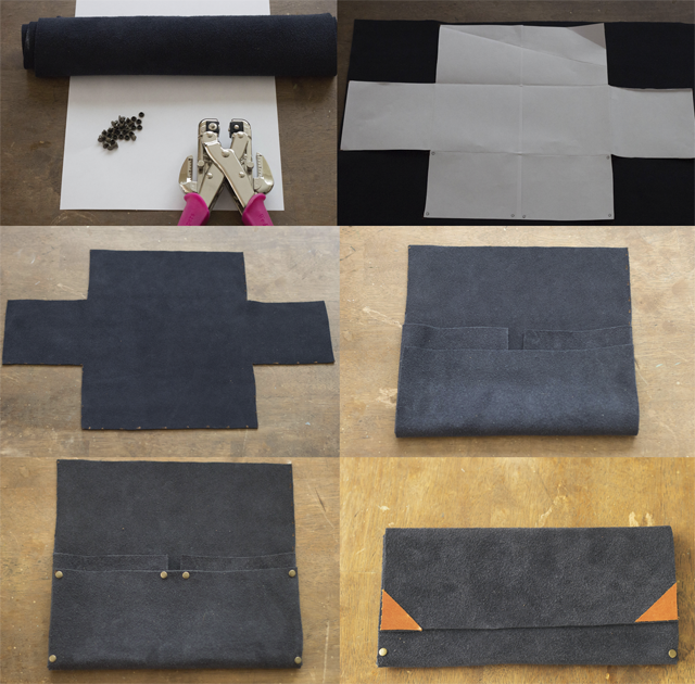 No Sew Leather Wallet Pattern