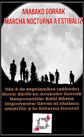 MARTXA NOCTURNA A ESTIBALIZ // SÁBADO, 3 DE SEPTIEMBRE