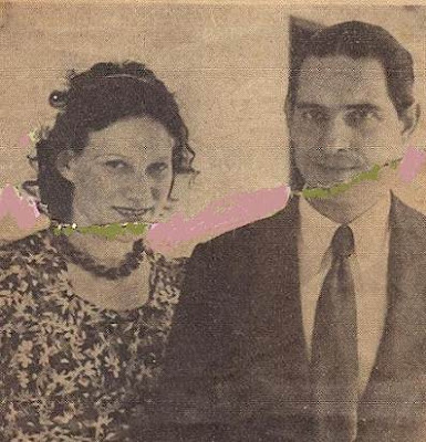 Esteban Canal y su esposa Anna Klupàcs en 1938