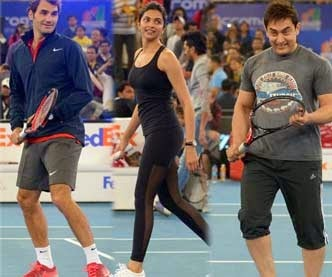 Bollywood Stars AT IPTL Launch Photos