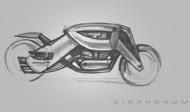 Jakusa Diaphanum Concept Motorcycle | concept motorcycles | Motorcycle design Jakus Tamás was inspired by sci-fi movies to design this cool concept motorcycle and named it Jakusa Diaphanum concept.