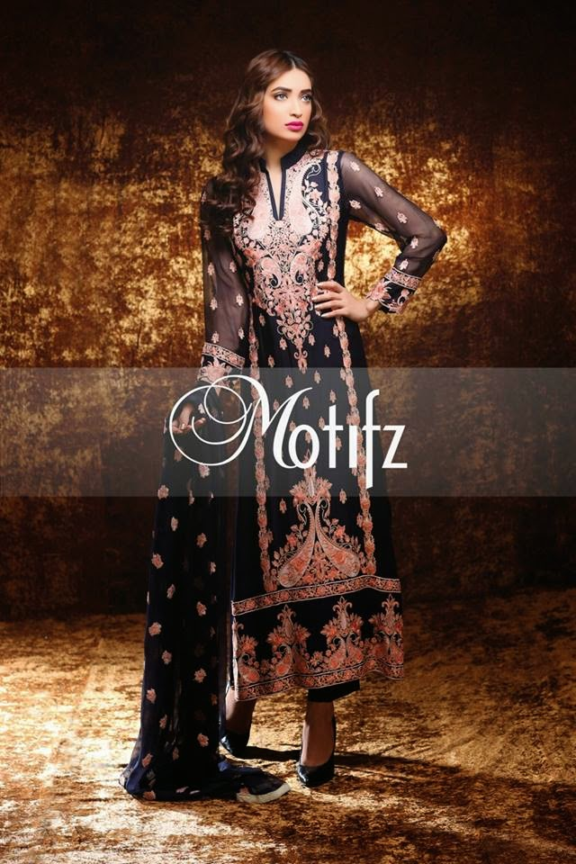 Motifzs silk crinkle chiffon dress