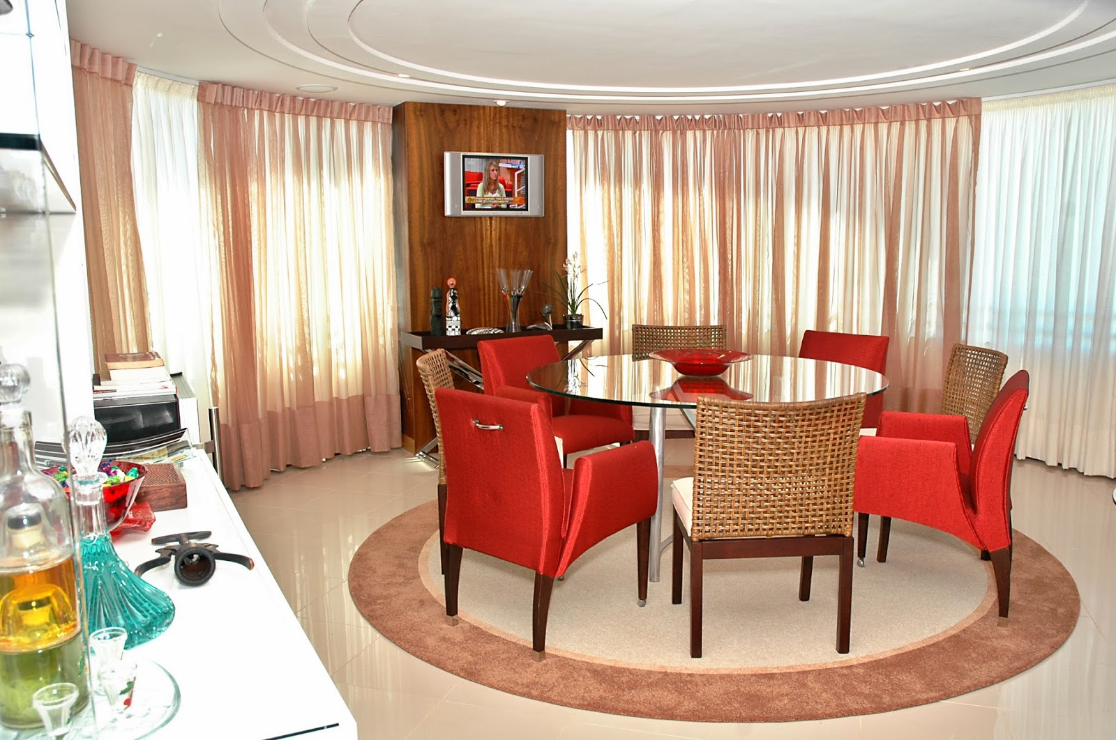 Papo Arq&Decor: Sala de Jantar #AE261D 1600x1062