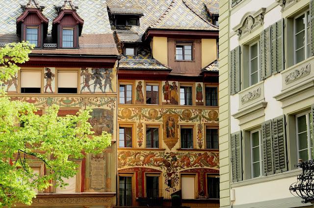 lucerne ville façades painted