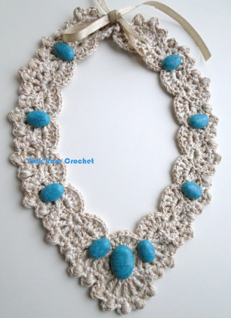 PINK ROSE CROCHET: Colar Amina Crochet Collar Necklace
