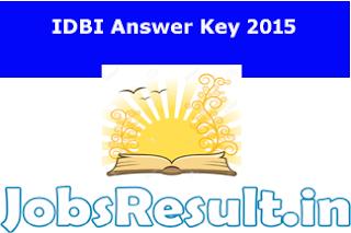 IDBI Answer Key 2015