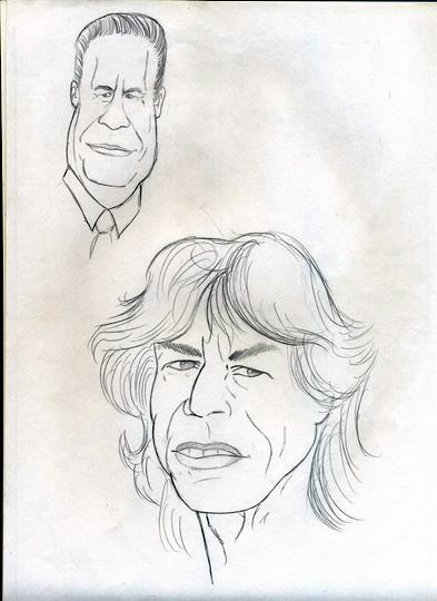 Caricaturas: Fernando Henrique Cardoso e Mike Jagger