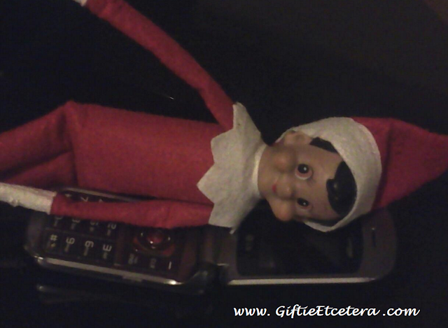 Elf on the Shelf Ideas, cell phone