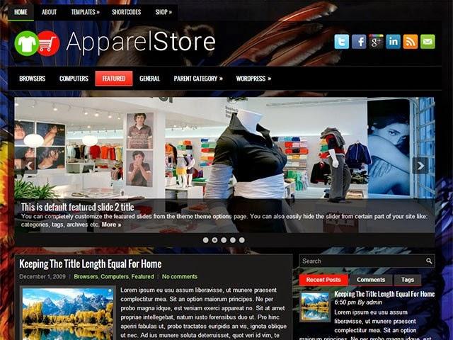 ApparelStore - Free Wordpress Theme