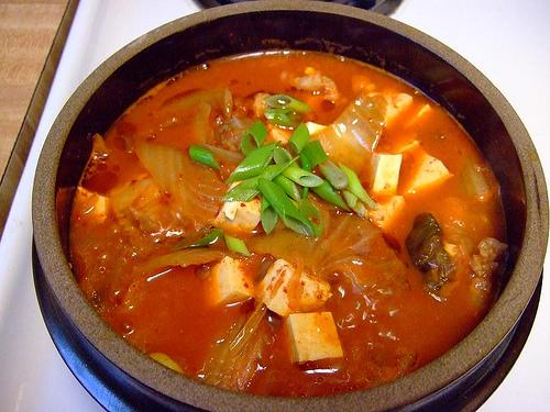 kimchi water small zucchini carrot onion pepper paste or bean paste ...