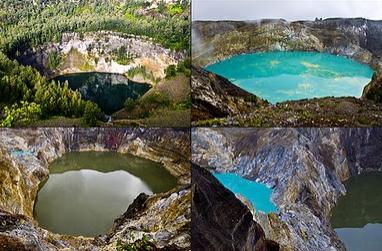 Pemadangan danau 3 warna