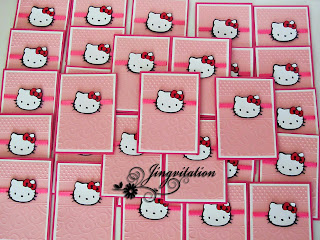 Hello Kitty Pink Invitation