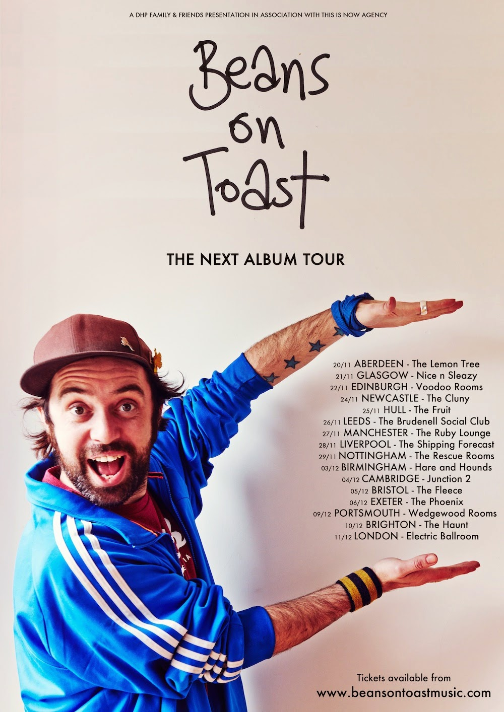 Beans on Toast The Next Album Tour 2014