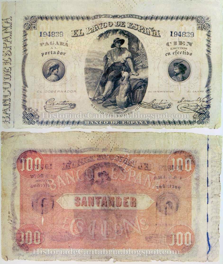 Billete de 100 escudos de 1873