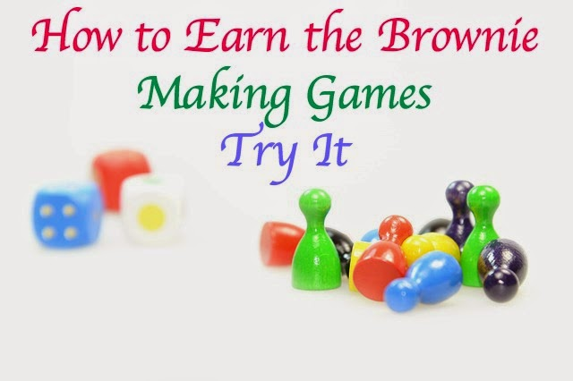 Meeting plans and resources to earn the Brownie Making Games badge