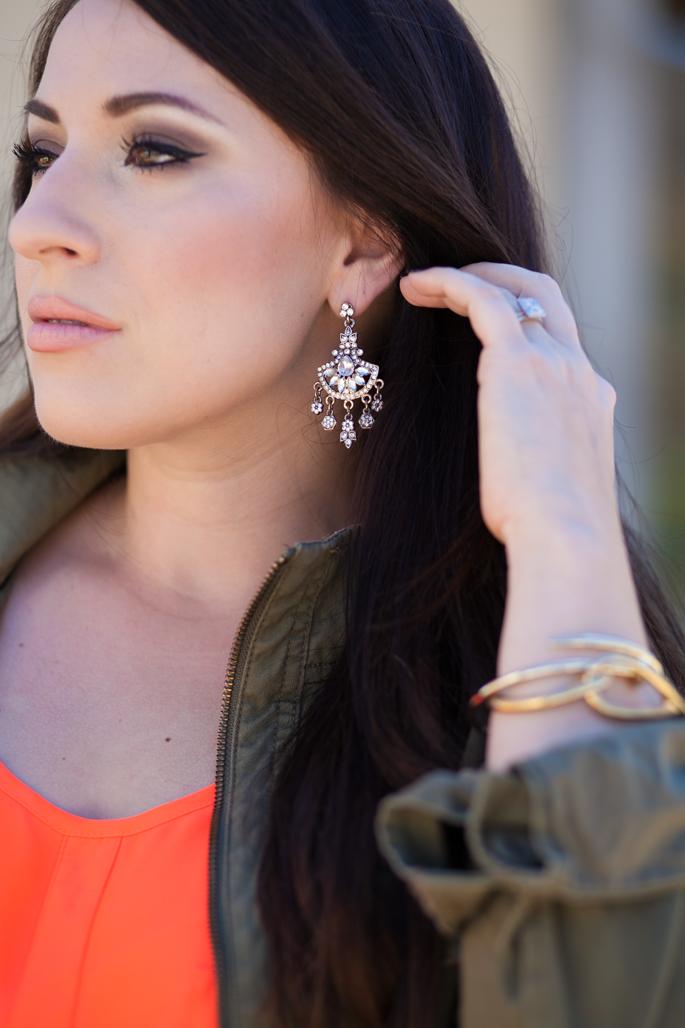 zara chandelier earrings