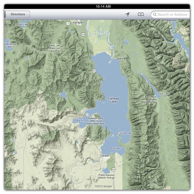 montana, map, flathead lake