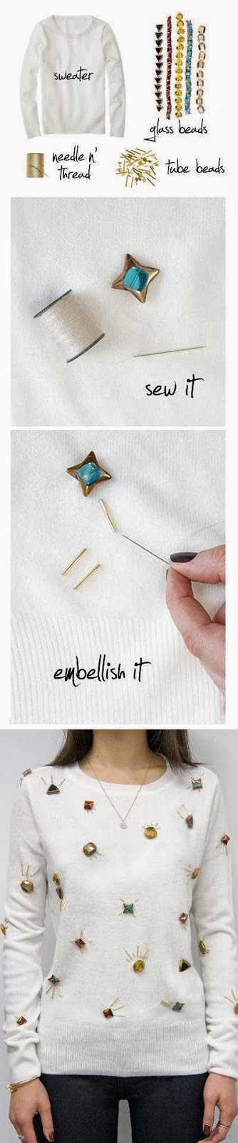 Make a Beautiful Embellished Sweater