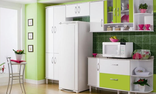 decorar uma cozinha: & Sua casa: Cozinha pequenavamos nos inspirar e decorar a nossa