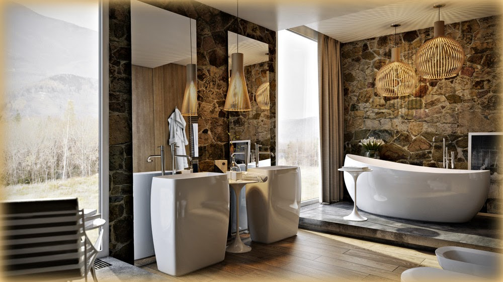 Boiserie c bagno moderno sofisticato retr - Bagno con boiserie ...