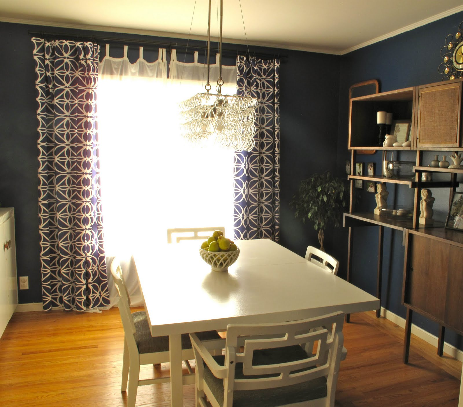 Two Bedrooms and a Baby: Navy Blue Dining Room