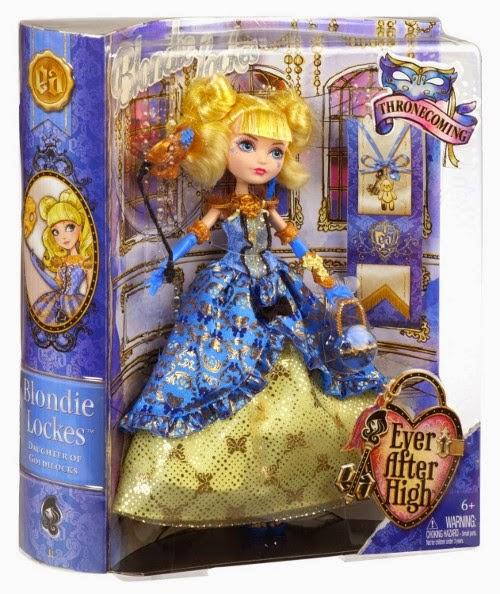 JUGUETES - EVER AFTER HIGH   Thronecoming : La Gran Coronación - Muñeca Blondie Lockes  Producto Oficial | Mattel BJH54 - CBT92 | A partir de 6 años