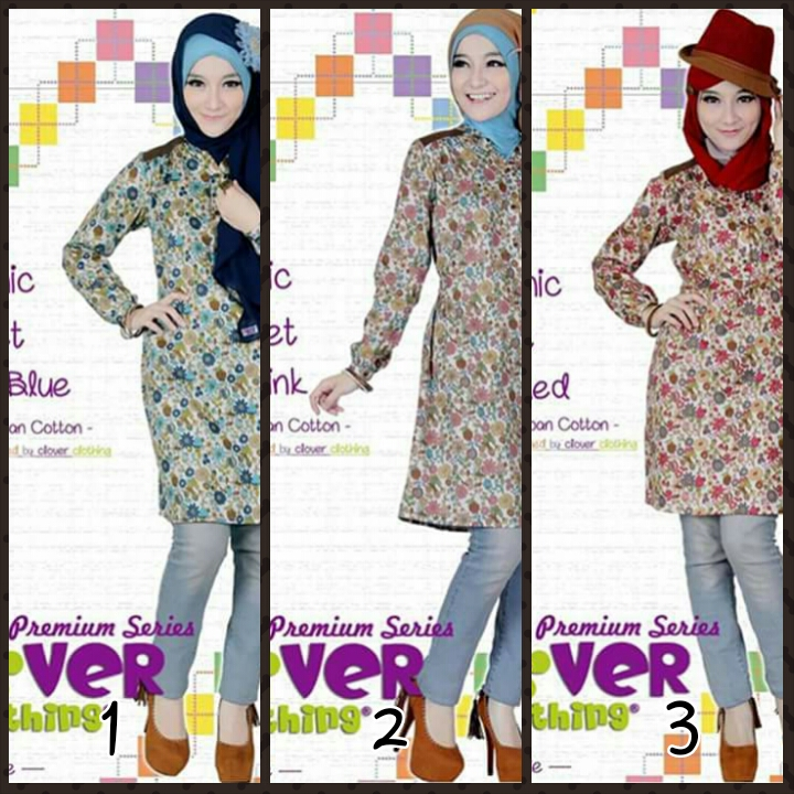 Clover Clothing Tunik Juliet (Toko Jilbab dan Busana Muslimah Terbaru)