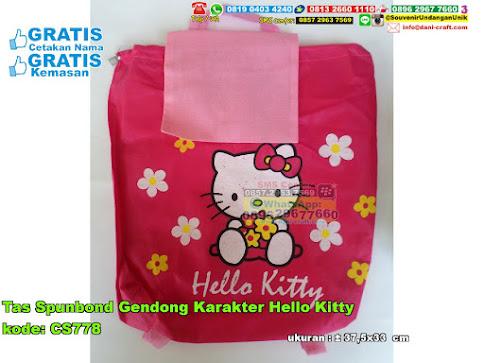 Tas Spunbond Gendong Karakter Hello Kitty