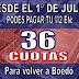 "Plan 36 cuotas ""Domingo Vaccaro"""