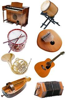 Фотографический клипарт Музыкальные инструменты