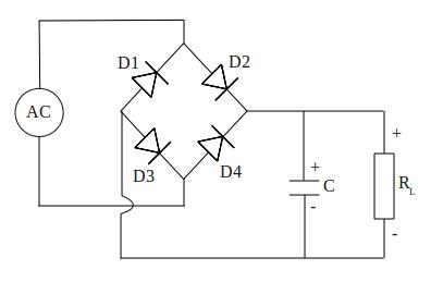 Diode bridge rectifier circuit