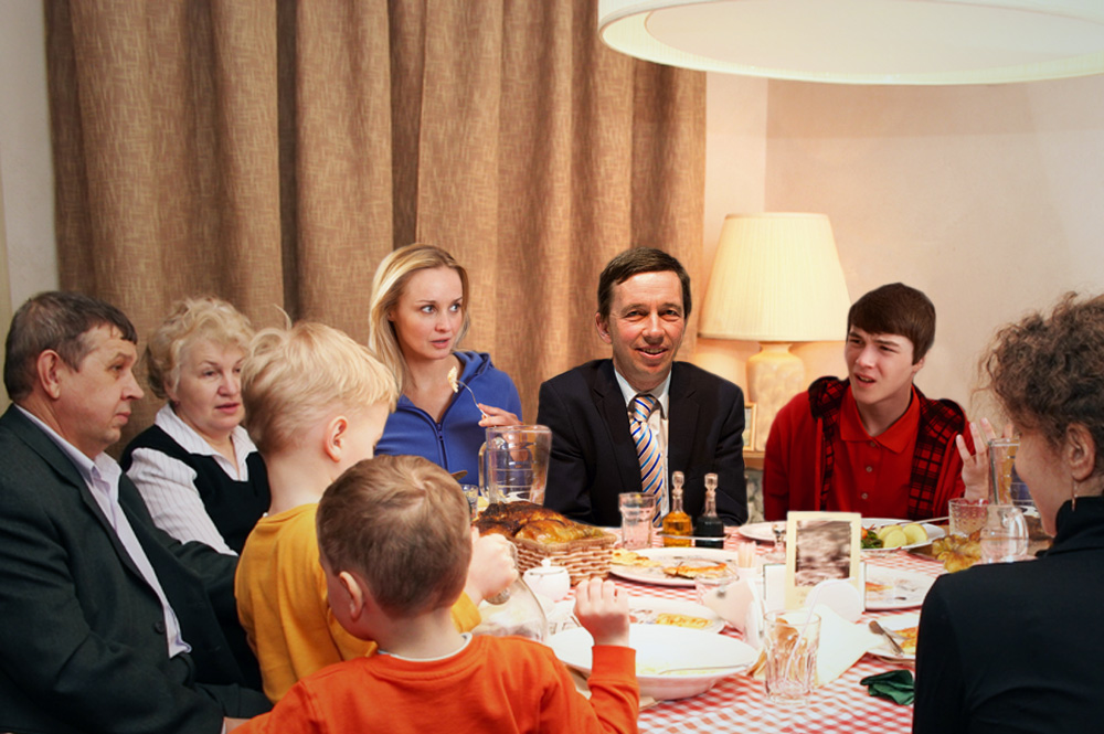 When Bernd Lucke again brings awkward silence at the family table a new party home